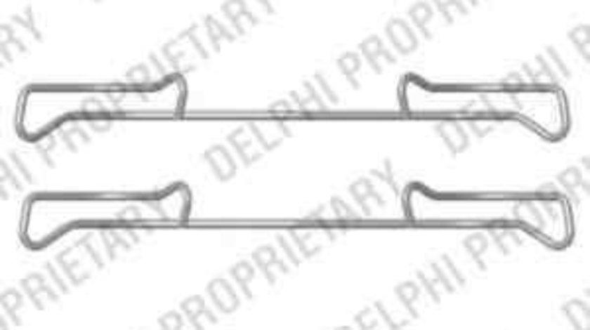 Set accesorii, placute frana VW TIGUAN (5N_) DELPHI LX0436