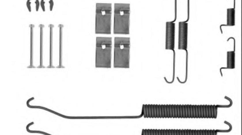 Set accesorii, sabot de frana NISSAN NAVARA platou / sasiu (D40) (2008 - 2016) TEXTAR 97040300 piesa NOUA