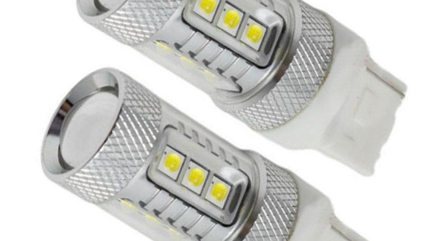 Set Becuri LED T20 cu 15 SMD Samsung, Lumina Alba (1 Faza)