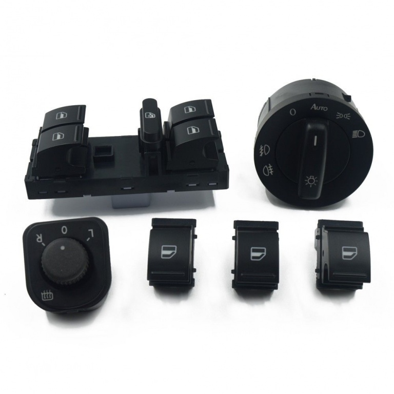 Set bloc lumini + butoane negru Volkswagen Golf, Jetta, Passat, Tiguan
