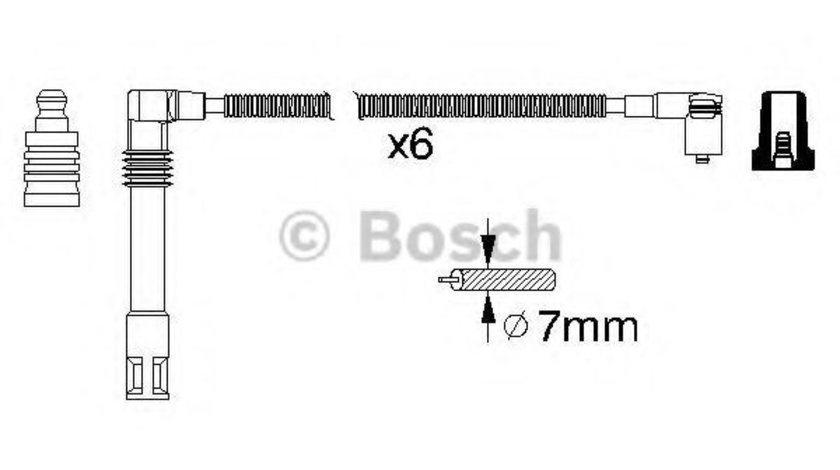Set cablaj aprindere AUDI A4 Cabriolet (8H7, B6, 8HE, B7) (2002 - 2009) BOSCH 0 986 356 321 piesa NOUA