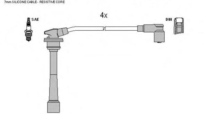 Set cablaj aprindere KIA CARENS II (FJ) (2002 - 2006) TESLA T118B piesa NOUA