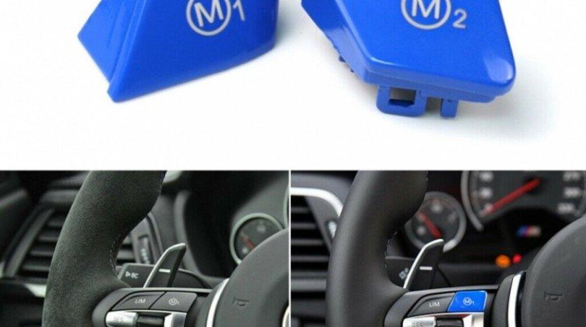 Set Capac Buton Volan Bmw Seria 1 F21 2012-2016 M1+M2 8027+8028 Albastru