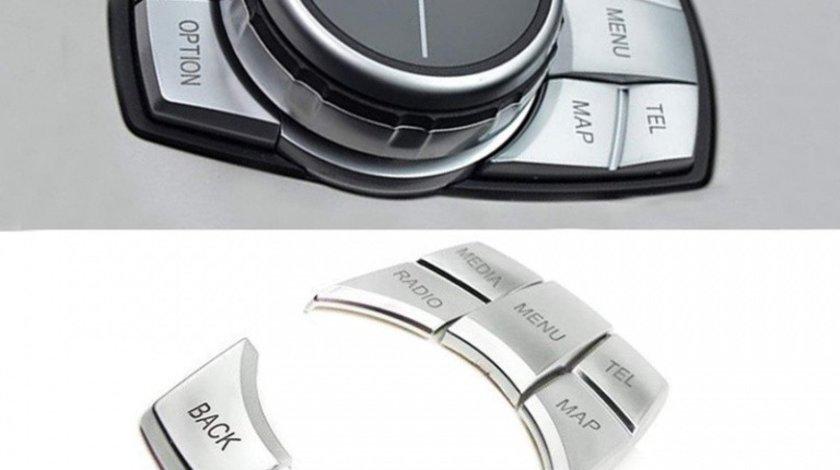 Set Capace Butoane Joystick Silver Compatibil Bmw Seria 7 F01 2008-2015 8017