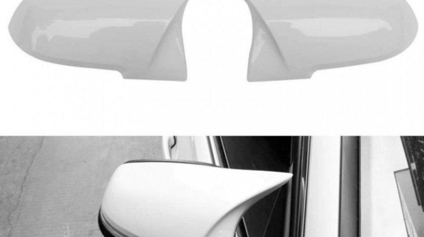 Set Carcase Capace Oglinzi Bmw Seria 2 F22, F87 2012→ M Look Alpine White 8029 Alb