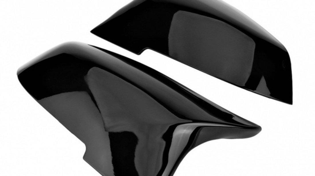 Set Carcase Capace Oglinzi Bmw Seria 3 F30 2011-2018 M Look Gloss Black 8029 Negru
