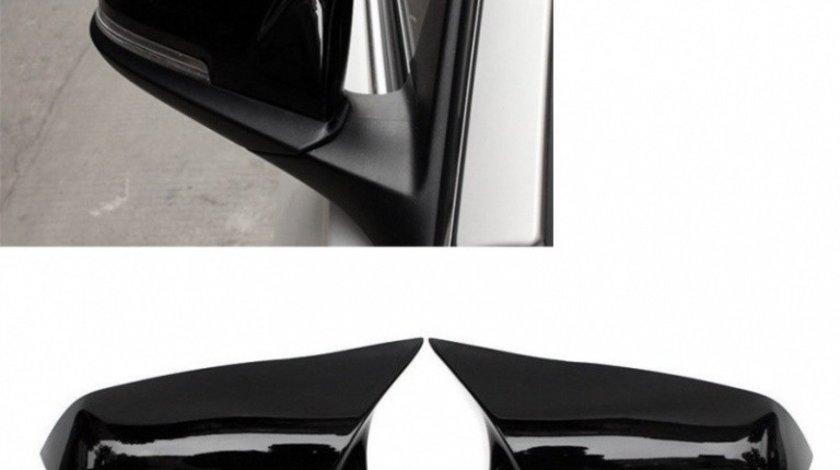 Set Carcase Capace Oglinzi Bmw Seria 4 F33, F83 2013→ M Look Gloss Black 8029 Negru