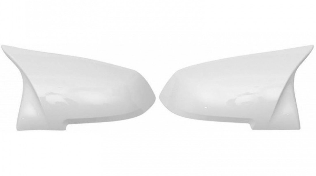 Set Carcase Capace Oglinzi Bmw Seria 4 F36 2014→ M Look Alpine White 8029 Alb