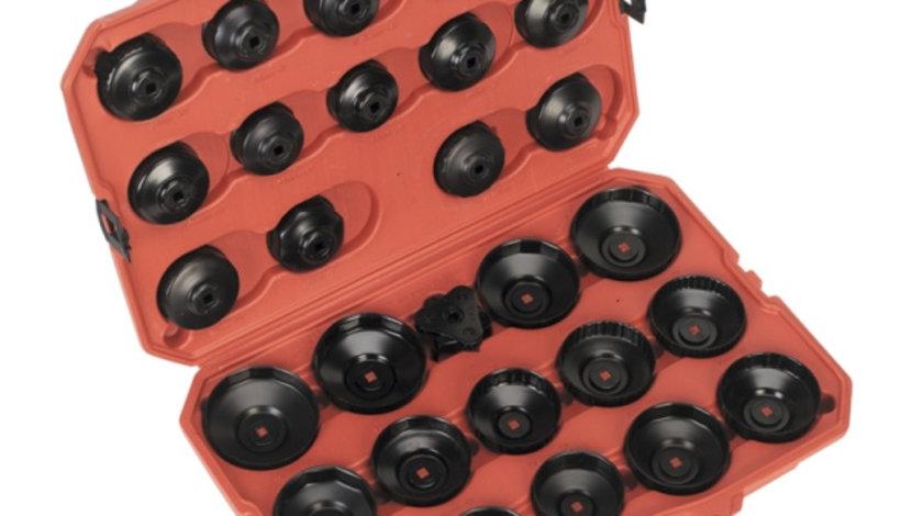 Set chei pentru capacul filtrului de ulei pentru inlocuirea filtrelor de ulei, Sealey 30 piese.