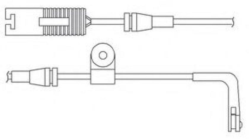 Set contacte avertizare, uzura placuta frana BMW Seria 5 (E39) (1995 - 2003) DELPHI LZ0168 piesa NOUA