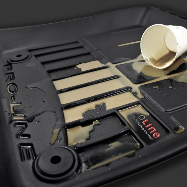 Set Covorase Auto Cauciuc Negro Audi A4 B6 2000-2006 Pro Line Tip Tavita 3D 3D408654