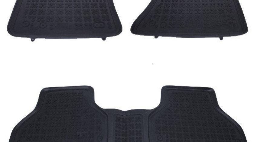 Set covorase auto din cauciuc pentru BMW X5 E70 2006-2013, X6 E71 2008-2014, Rezaw Plast, Negru, 3 Buc