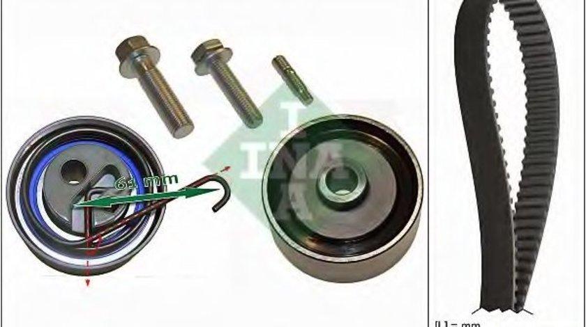 Set curea de distributie HONDA CIVIC VII Hatchback (EU, EP, EV) (1999 - 2006) INA 530 0491 10 produs NOU