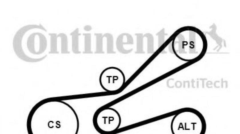 Set curea transmisie cu caneluri PEUGEOT PARTNER caroserie (5) (1996 - 2012) CONTITECH 6PK1045K3 piesa NOUA
