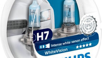 Set de doua becuri Philips White Vision H7 12V 55W