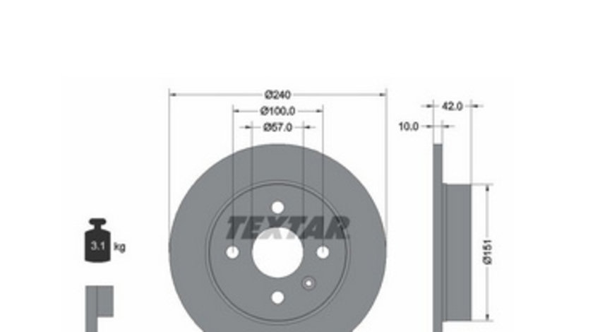 Set Discuri Opel Astra G / Astra H 92092003 ( LICHIDARE DE STOC)