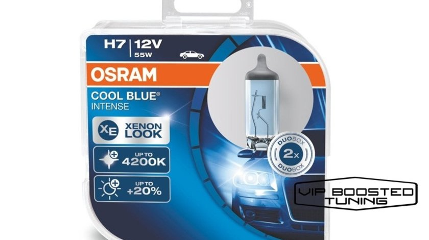 Set doua becuri halogen H7 OSRAM Cool Blue Intense