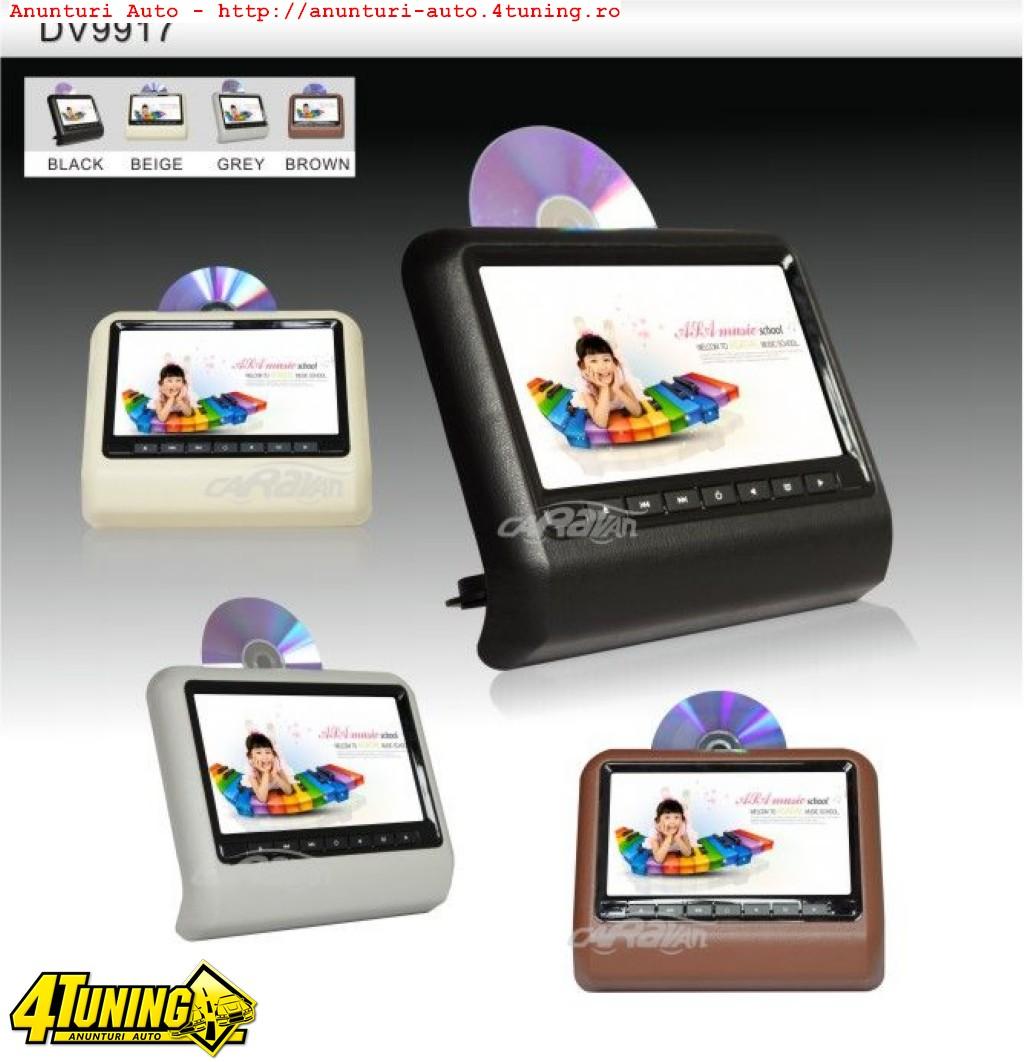SET DVD PLAYER AUTO DE TETIERA CARTEK CK-DV9917 NEGRU LCD 9'' HDMI USB / SD PLAYER REZOLUTIE HD JOCURI JOYSTICK WIRELESS MONTAJ CALIFICAT IN TOATA TARA !