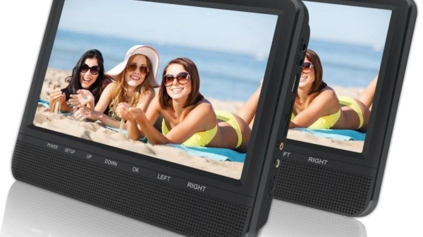 SET DVD PLAYER AUTO DE TETIERA EDT-911 LAND ROVER USB SD LCD 9'' REZOLUTIE HD JOCURI JOYSTICK