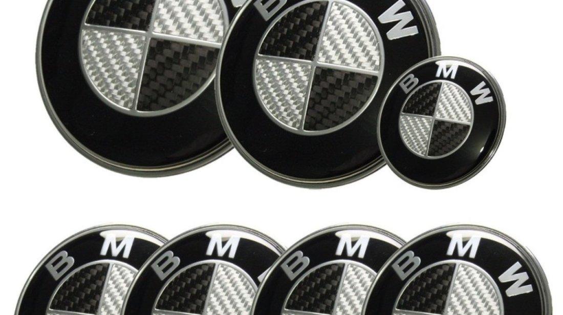 Set embleme BMW carbon din 7 piese