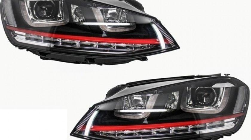 Set Faruri Dreapta + Stanga Am Volkswagen Golf 7 2012→ 3D LED R20 GTI Design HLVWG7GTILED