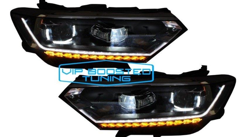 Set Faruri Full LED VW Passat B8 3G semnalizare dinamica (2014-2019) Matrix Look