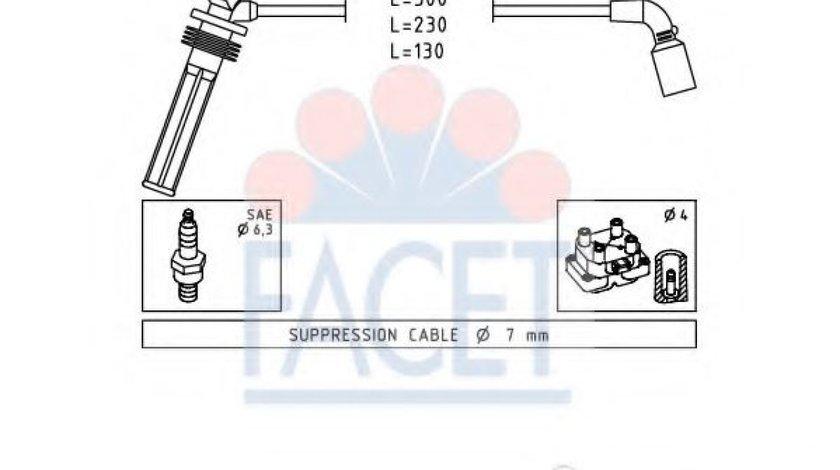 Set fise bujii CHEVROLET AVEO Hatchback (T250, T255) (2007 - 2016) FACET 4.7249 produs NOU