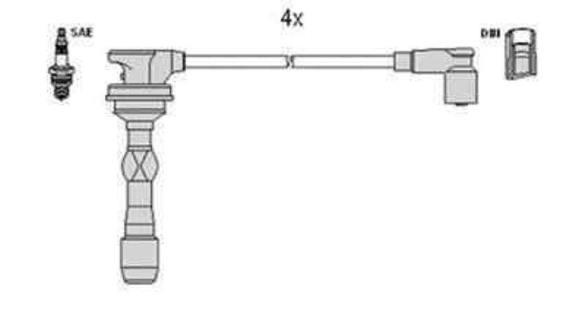 Set fise bujii HYUNDAI i20 (PB, PBT) HÜCO 134118