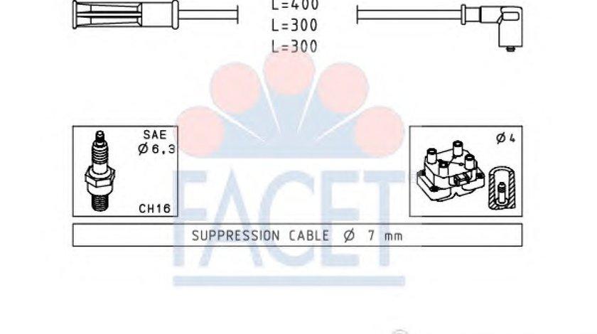SET FISE BUJII Logan/Sandero 1.4/1.6 FACET 4.7244 <br>