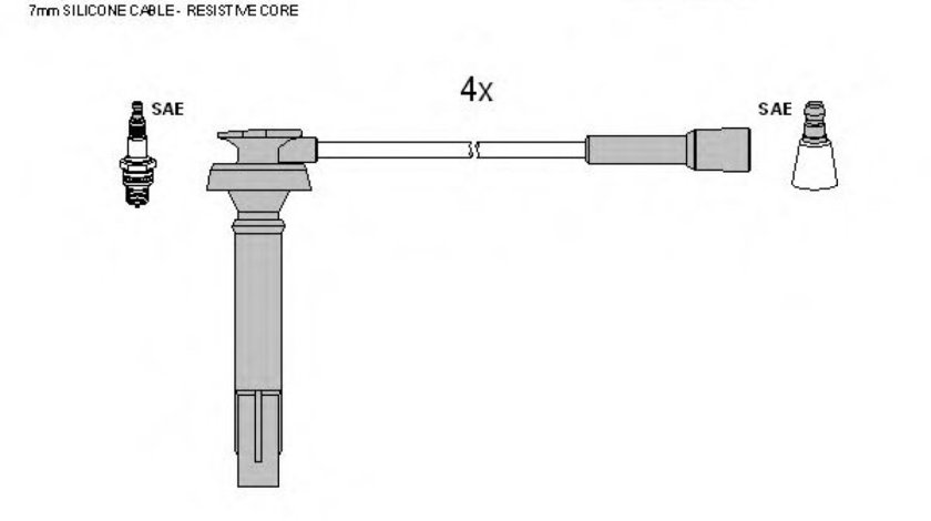 Set fise bujii SUBARU OUTBACK (BE, BH) (1998 - 2003) TESLA T310B - produs NOU