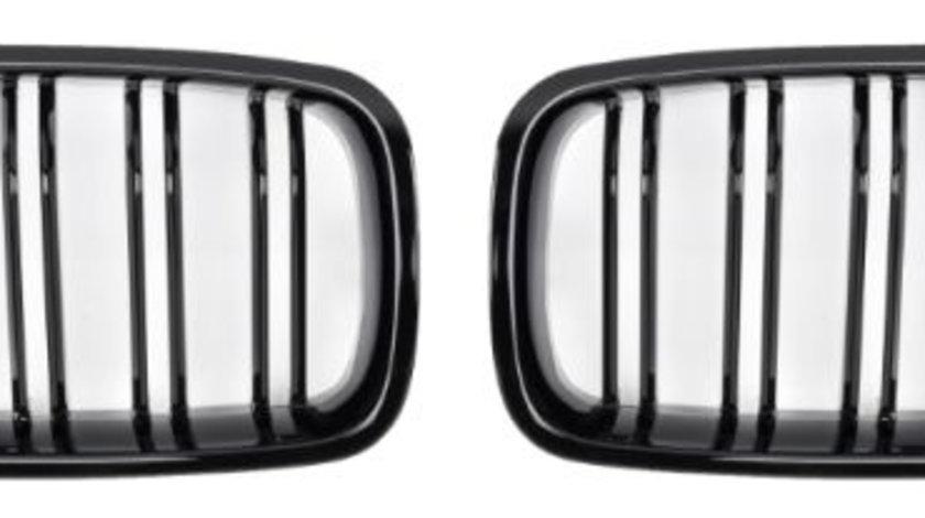 Set grile radiator negru lucios, , 2 piese BMW Seria 3 (F30 316 d/316 i/318 d/318 d xDrive/318 i/320 d/320 d xDrive/320 i/320 i xDrive/325 d/328 i/328 i xDrive/330 d/330 d xDrive/330 e/330 i/330 i xDr