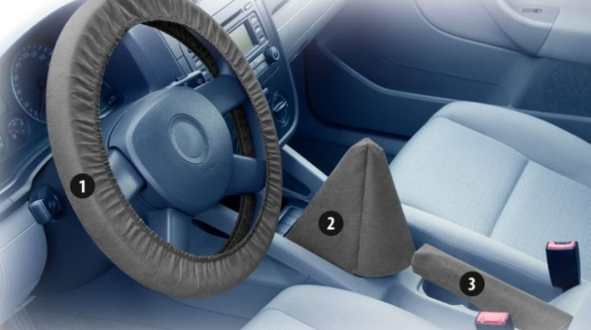 Set huse protectie masina pentru service auto, pachet huse (husa volan, husa schimbator, husa maneta frana mana)