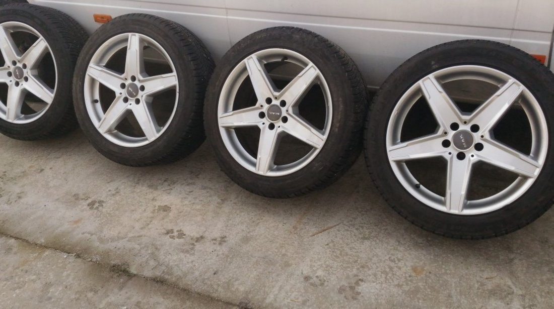 Set jante aliaj 5x112 pe 19 cu anvelope iarna MICHELIN PILOT ALPIN 255/45/19 Mercedes VW AUDI