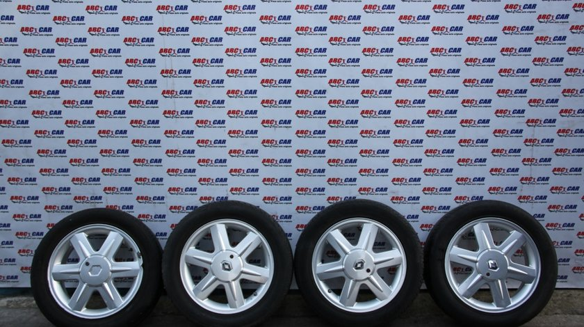 Set jante aliaj cu anvelope 205 / 55 / R16 5X108 cod: 8200051212A Renault Laguna 2 model 2004