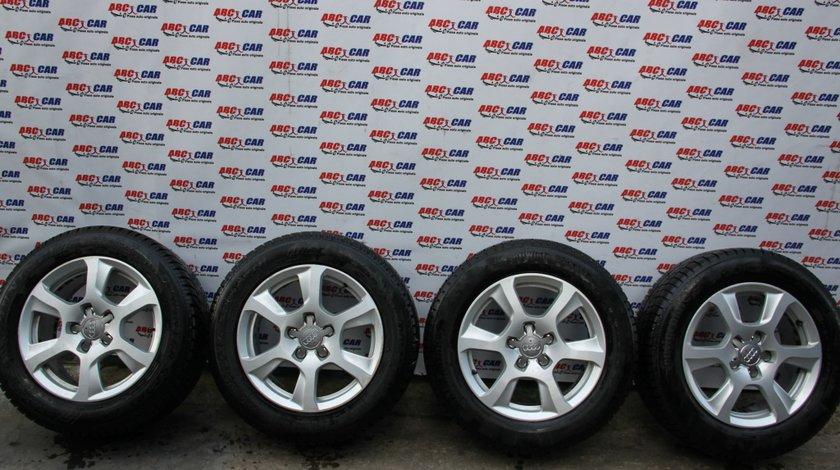 Set jante aliaj cu anvelope de iarna 225 / 55 / R16 5x112 Audi A4 B8 8K cod: 8K0601025F model 2012