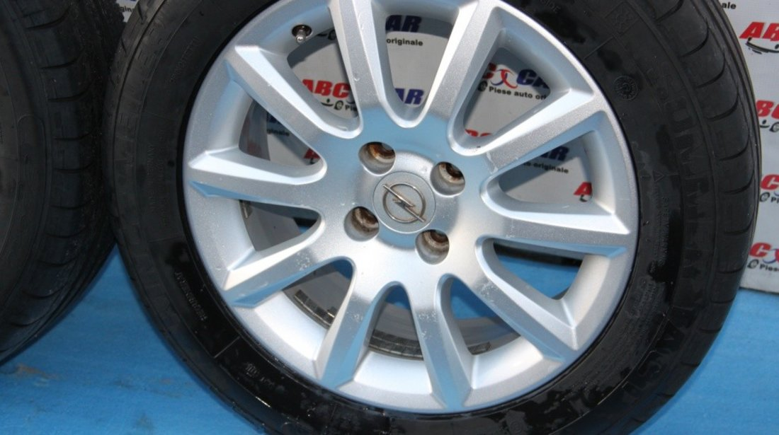 Set jante aliaj cu anvelope de vara 205 / 55 / R16 6.5JX16 ET 37 4X100 Opel Astra H model 2006