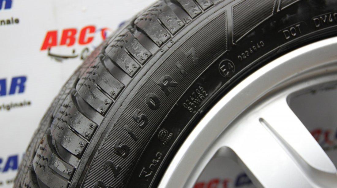 Set jante aliaj cu anvelope Dunlop M+S de iarna 225 / 50 / R17 5X112 ET28 Audi A5 8T cod 8T0601025B model 2012