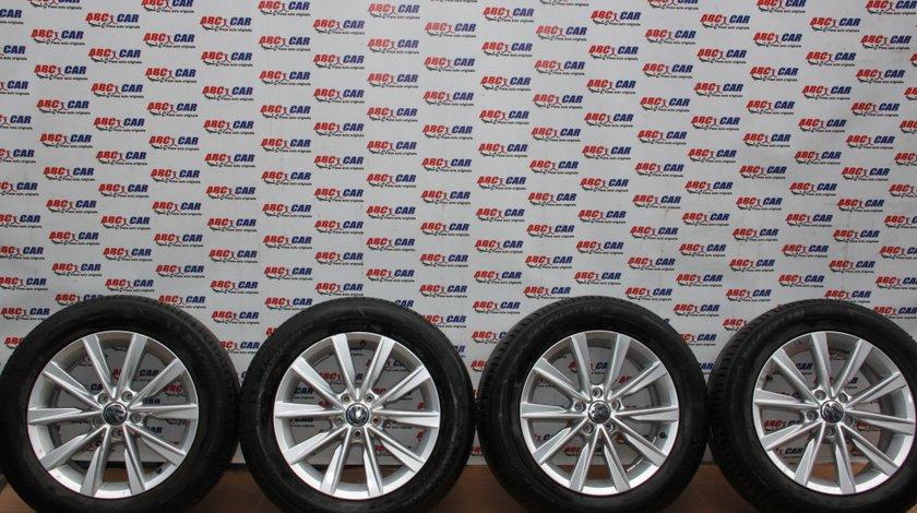 Set jante aliaj cu anvelope Michelin 215 / 60 / R17 6.5JX17H2 ET 33 5X112 cod: 5N0601025AM VW Tiguan 5N R-Line