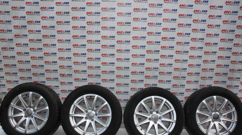 Set jante aliaj R16 Audi TT 8J 2006-2014 8J0601025F, 7JX16H2, ET47, cu anvelope iarna Dunlop 225/55/R16