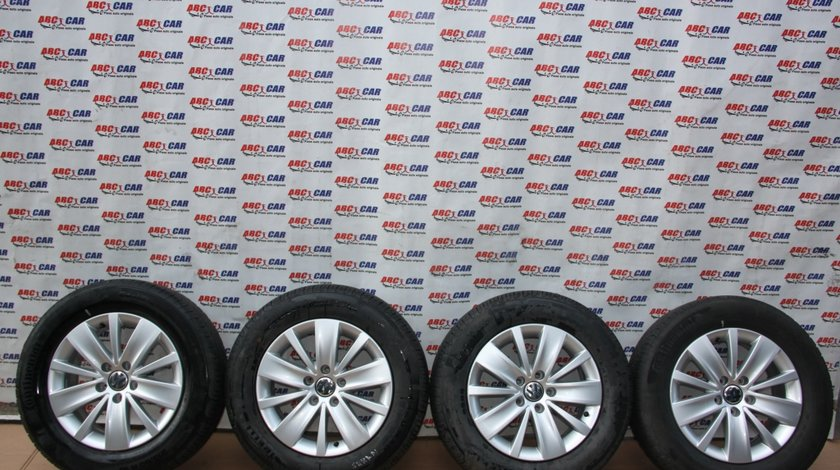 Set jante aliaj R16 VW Sharan 7N 6.5JX16H2 ET33 5X112 cod: 7N0601025K model 2014