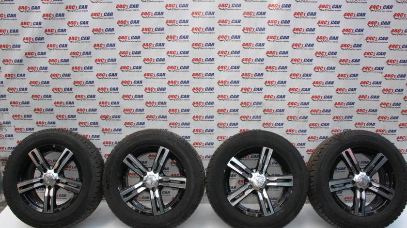 Set jante aliaj R16 VW Transporter T5 2004-2015, ET45, 16X6,5JJ, cu anvelope Continental 205/65/R16 C dot 2017