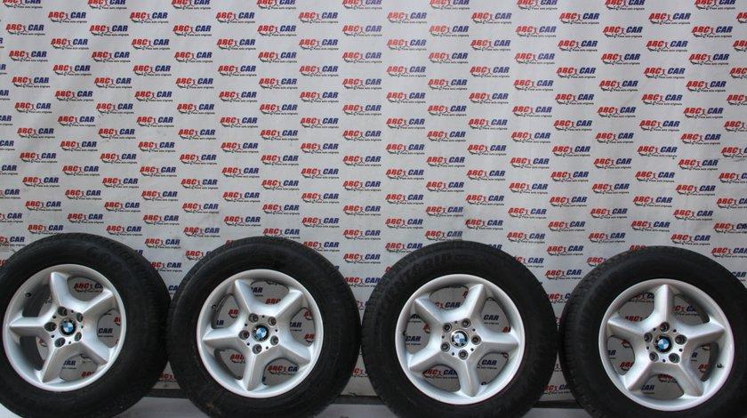 Set jante aliaj R17 cu anvelope Goodyear BMW X5 E53 5X120 IS40 7.5JX17SEH2 cod: 1096159-13 model 2002
