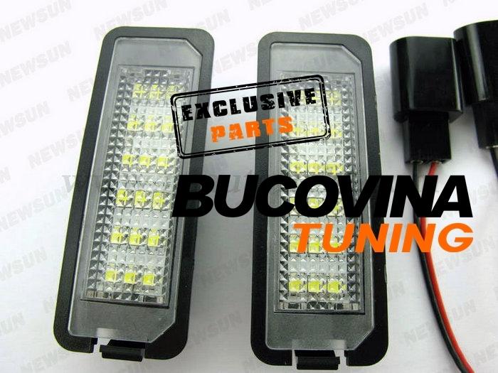 SET LAMPI LEDURI PENTRU NUMAR VW GOLF 4, GOLF 5, POLO, PASSAT !
