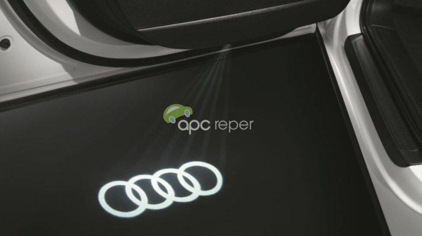 """Set Led Usi / Holograma Audi Original cu inscriptie """"Sigla Audi''"""