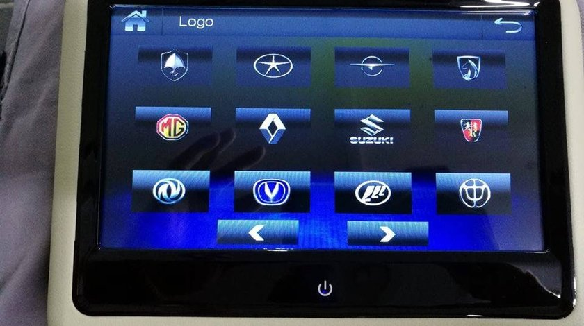 SET MONITOARE DE TETIERA BEJ FIAT ECRAN 9'' TOUCHSCREEN DVD PLAYER SD USB PNI DB900 HD LOGO SELECTABIL