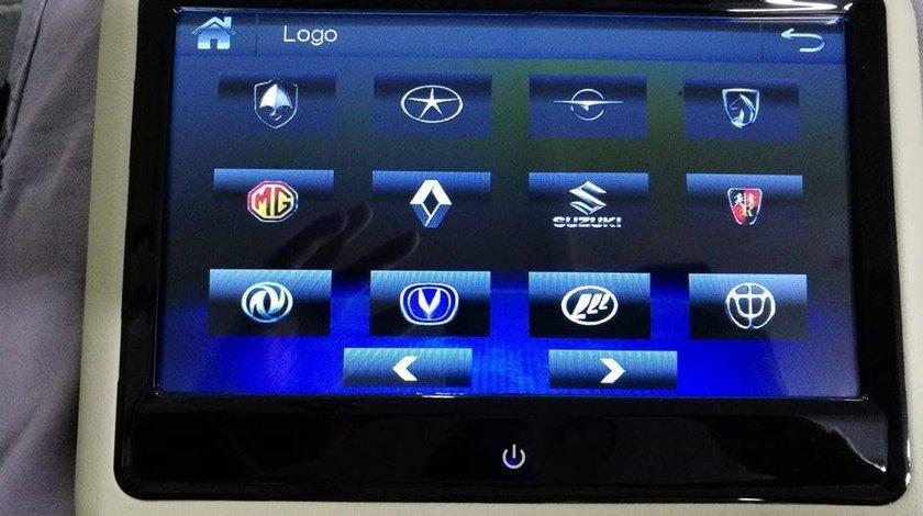 SET MONITOARE DE TETIERA BEJ RENAULT ECRAN 9'' TOUCHSCREEN DVD PLAYER SD USB PNI DB900 HD LOGO SELECTABIL