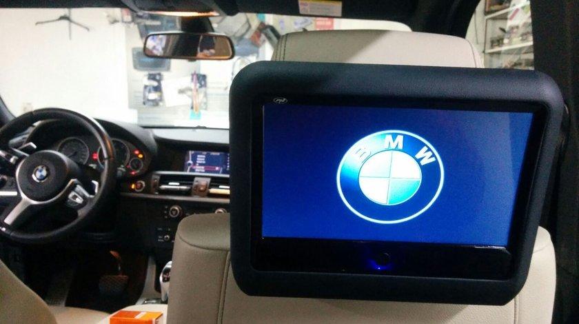 SET MONITOARE TETIERA DEDICATE BMW ECRAN 9'' TOUCHSCREEN DVD PLAYER SD USB PNI DB900 HD