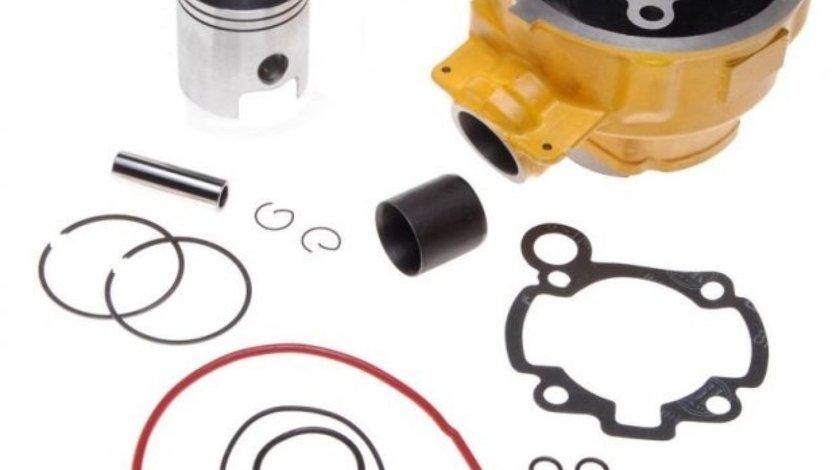 Set motor (cilindru) Aprilia AM6 80cc + chiuloasa - Wilmat Profesional