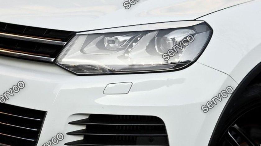 Set ornamente ABS pleoape faruri VW Touareg 7P5 2011- 2015 v1