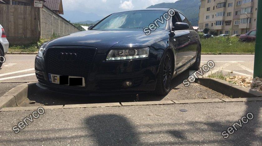 Set ornamente GRP pleoape faruri Audi A6 C6 4F S6 RS6 2004-2011 v2